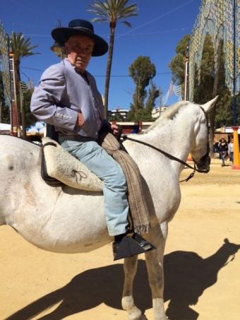 old spaniard on horse