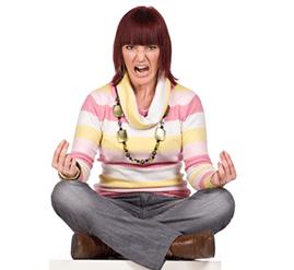 angry meditator