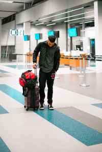 man with a luggage